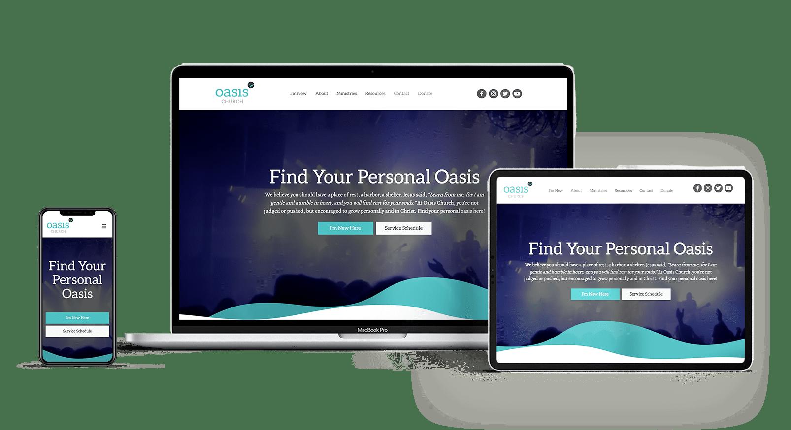 Apostolic and Pentecostal website mockup